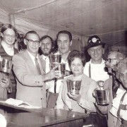 "The ""movers and shakers"" of the Germania Society's first Oktoberfest. Photo courtesy of The Germania Society."